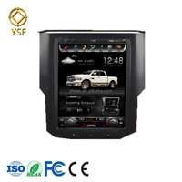 10.4 inch Quad core Android IPS screen Tesla Style for Dodge Ram trucks vertical cd player with gps radio