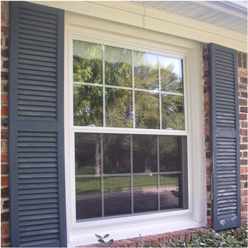 Gl Grid Vertical Sliding Window Aluminum Double Hung
