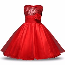 Customs Flower Princess Wedding Girl Dresses Children Clothing Ball Gown Girls Clothes Kids Party Dresses