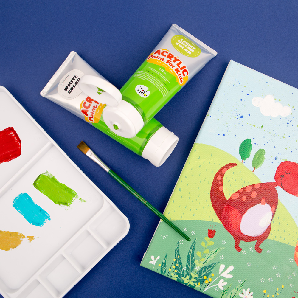 Kids Artist Supplies Wholesale 12 Colors Paint Set Acrylic Paint