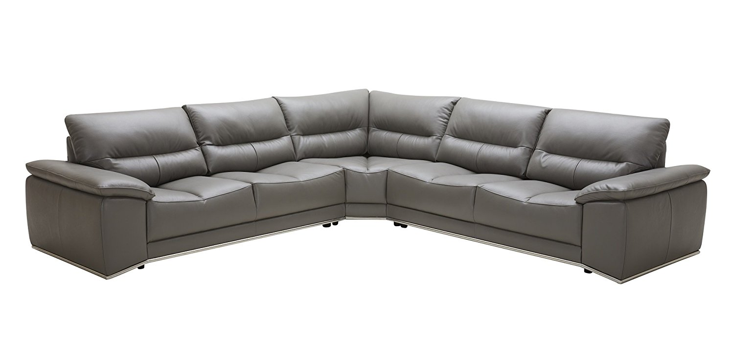 J and M Furniture 181384 the Cagliari Premium Leather Sectional