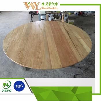 Round Wooden Oak Dinner Table Tops