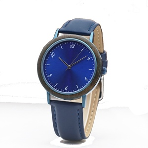 relogio feminino new fashion blue dial watch lady with genuine leather strap japanese quartz saat