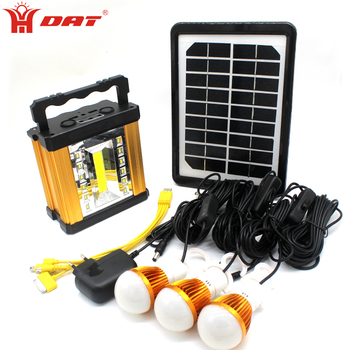 Multifunctional COB LED light aluminum Smart solar lighting system with mobile and lamps