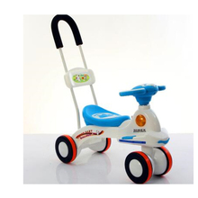 Top sellling baby swing car with push bar/custom music and light children swing car/steady 4 wheel magic car kids twist car