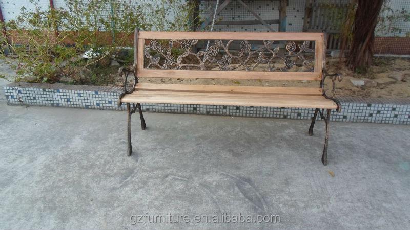 Rose Design Back Park Bench Cast Iron Legs Buy Outdoor Garden
