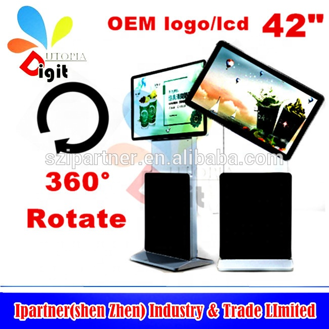 "LCD AD PLAYER 42 ""회 전형 360 degree Touch Screen Lcd Digital 두 번 lcd"