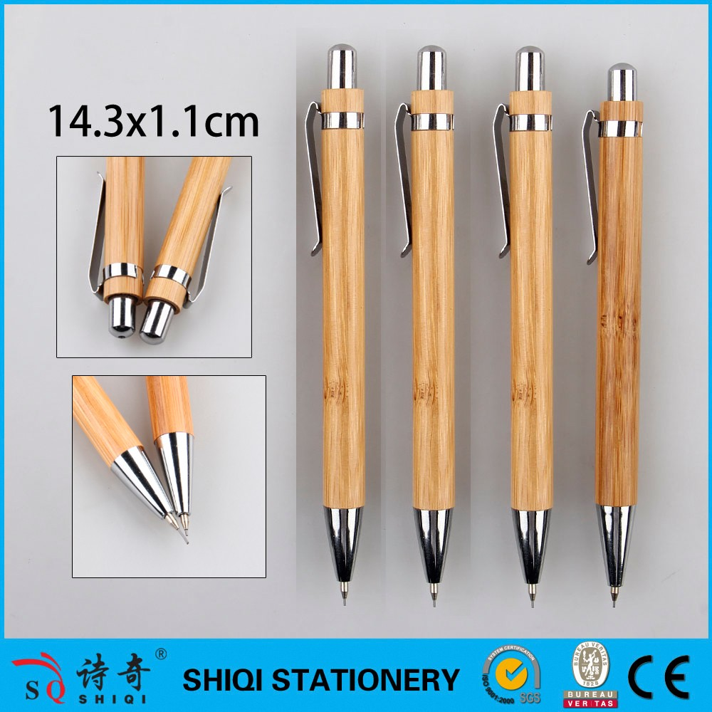 2017 Eco Friendly Bamboo Mechanical Pencil With Custom Logo