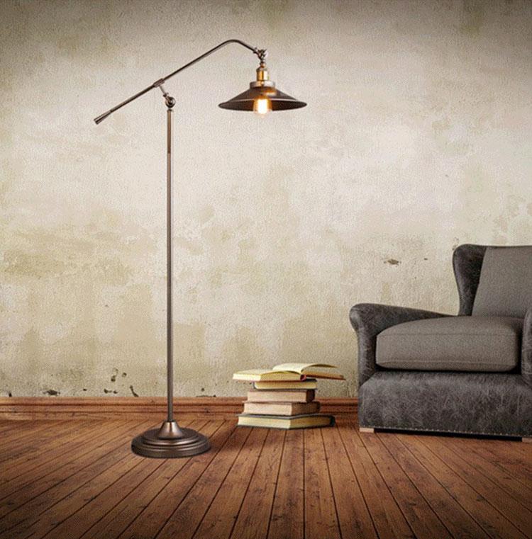 Brief Floor Lamp Iron Industrial Loft Standing Lamp Home