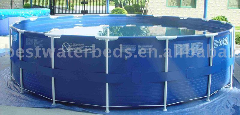 Piscina de plastico 10000 litros redonda for Lona piscina redonda