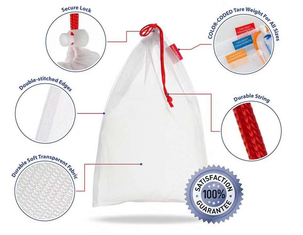 Bereit zu versenden kordelzug polyester mesh produzieren wiederverwendbare tasche