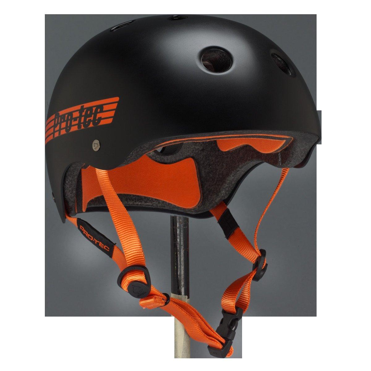 "ProTec Classic Bucky Lasek CPSC Black / Orange Skateboard Helmet - (Certified) - X-Large / 23.6"" - 24.4"""