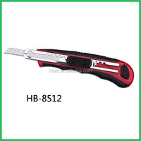 Utility Knife Snap Off stainless steel Blade 9mm Box Cutter (HB8512)