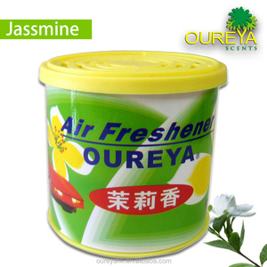 Factory price 100g jasmine aromatic car/auto mate gel refresher in plastic container