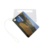 Silkscreen printing and CMYK offset Hard Plastic PVC Luggage Tag