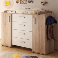 Home storage furniture baby change table with chest drawers