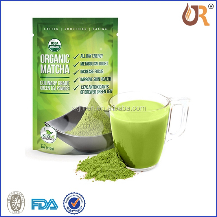 2018 New Arrive Matcha Green Tea Packaging Pouch Design