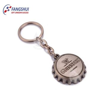 Custom logo design metal hat bottle opener cap keychain opener with logo
