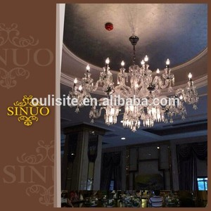 Project lighting design crystal custom led pendant lighting luxury a chandelier