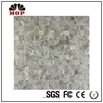 Shower Mosaic Tile Mother of Pearl Shell Blanks Design