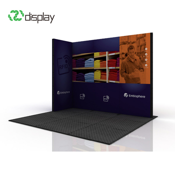 Small Exhibition Stand Years : Small aluminum modular exhibition stand for 10x10 view exhibition