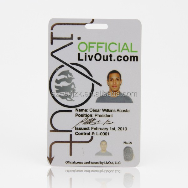pvc blank photo id cards/id card holograms