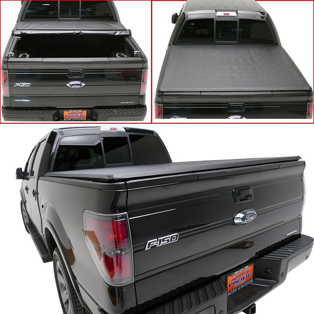 "E-Autogrilles Lock & Roll-up Soft Tonneau Cover for 04-14 Ford F-150 6.5ft 78"" Short Bed (RT016)"