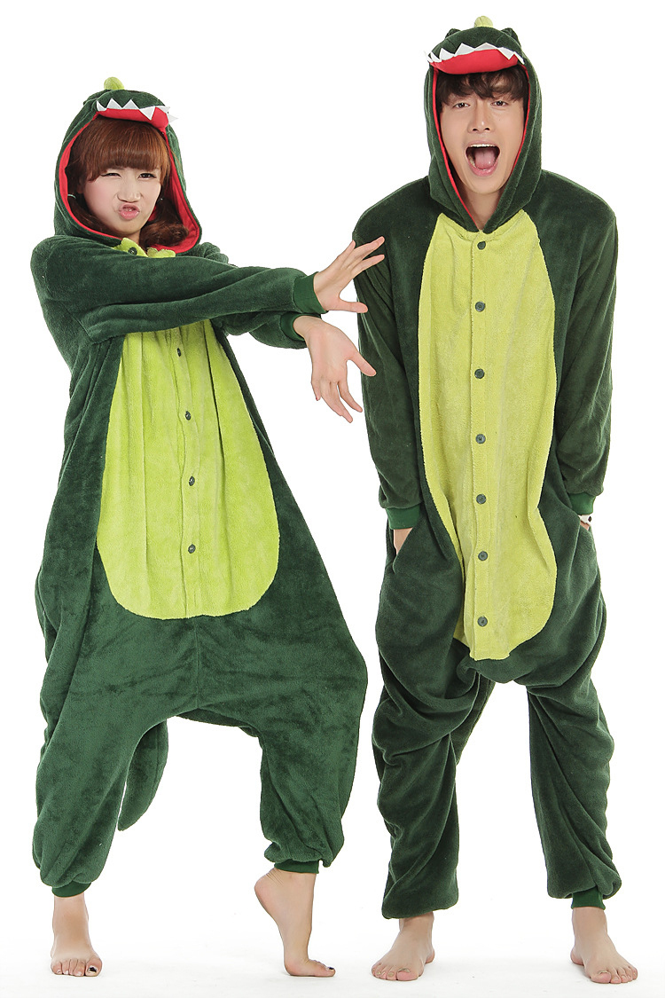 90de7254d2e4 Get Quotations · FS-0682 Adult Animal Footed Pajamas Cartoon Dinosaur  Costumes Onesies For Adults Men And Women