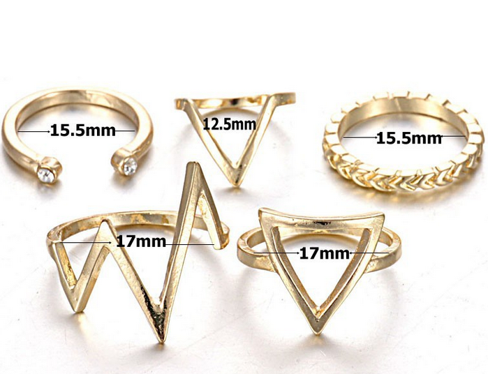 Fashion New Design Ladies Finger Ring Set Wholesale