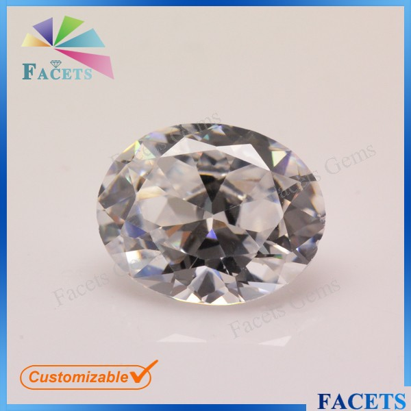 Facets Gems New Product Synthetic Fashionable Gemstone Semi Precious Stone Egg