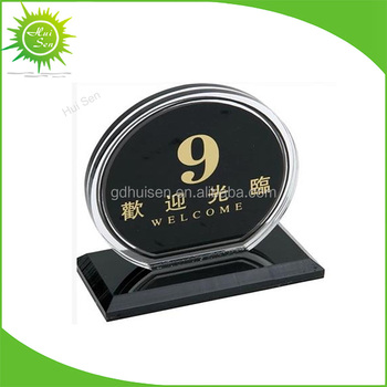 Wholesale Custom Reserved Sign Acrylic Restaurant Table Number Buy - Custom restaurant table numbers