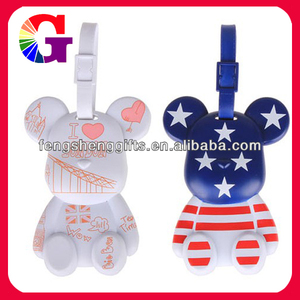 POPOBE bear luggage tag handles for plastic bags