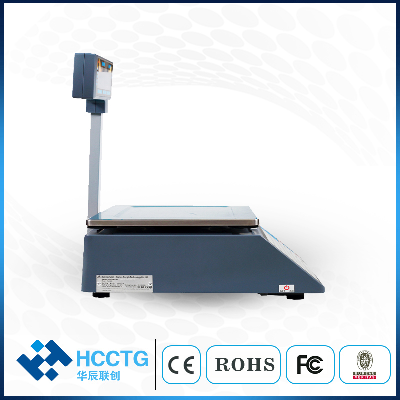Weight Balance POS USB Price Digital Weighing Electronic Scale With Laser Barcode Scanner HLS1000