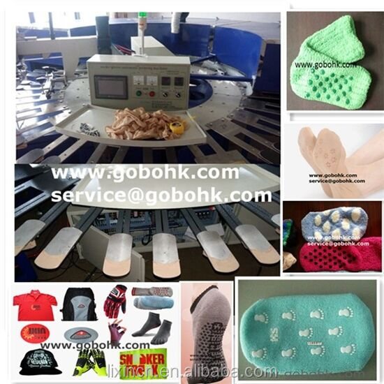 Automatic carousel/Rotary silk screen printing machine for sale/ socks /gloves/Sole/Slipper