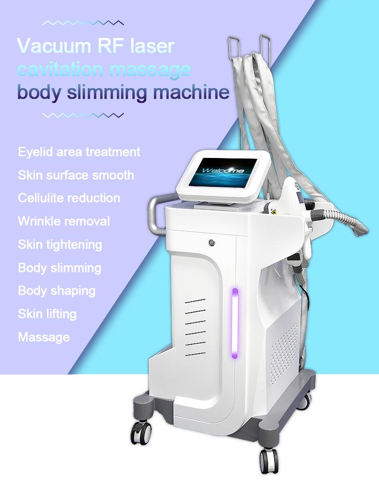2019 factory price vacuum suction body slimming machine/RF skin tightening laser liposuction beauty equipment/vacuum body slim