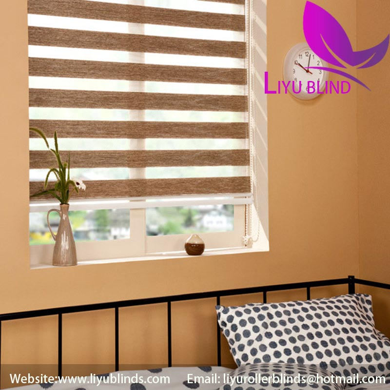 Liyu portable baby blackout zebra blind for windows
