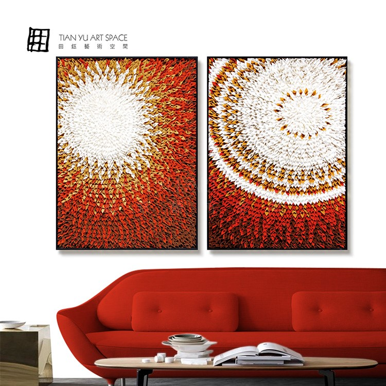 Fiber calligraphy art painting wall hanging paintings