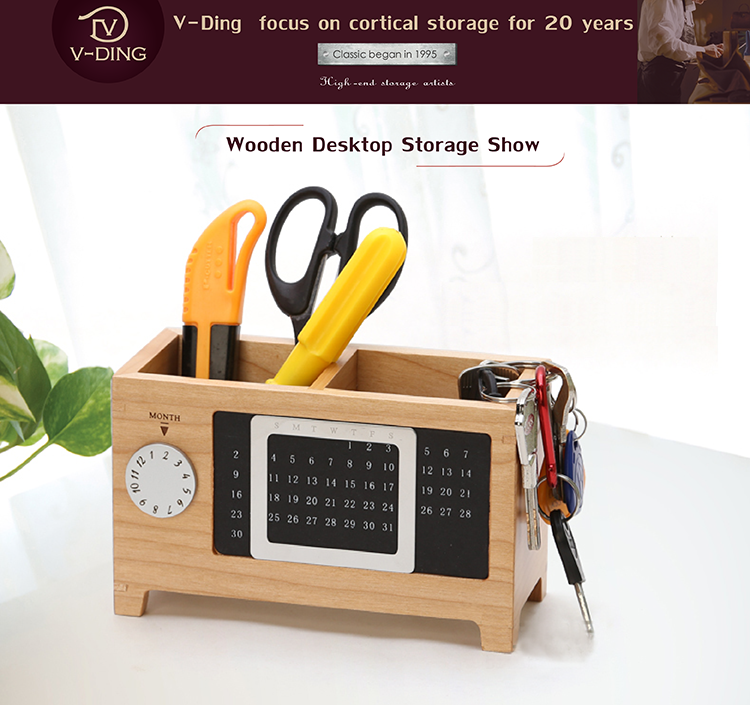 Vding New Products Wooden Pen Holder Pen Creative Office Supplies