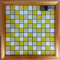 yellow marble beautiful bronze mixed glass mosaic square tiles