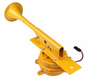 single trumpet 12v Gray/Yellow electric Horn Mechanism construction horn