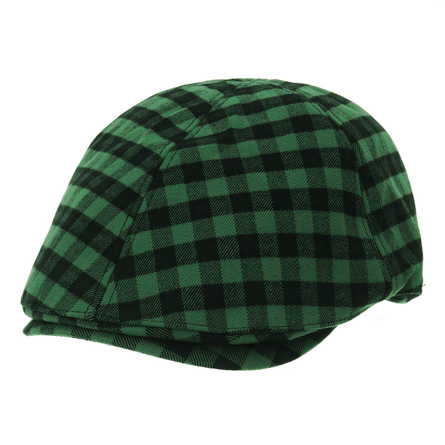 6c9caffa25b4e Get Quotations · WITHMOONS Mens Flat Cap Gingham Checks Plaid Ivy Hat SL3841