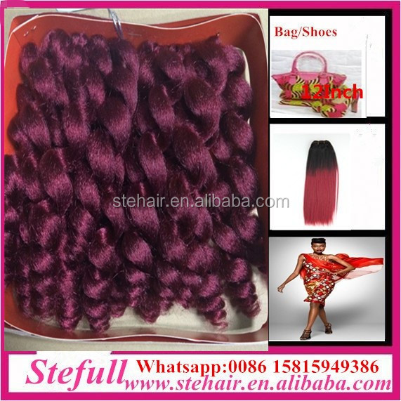 Stefull hair good quality no tangle japanese fiber african synthetic hair extension weave