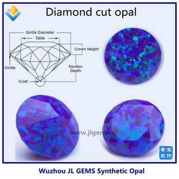 Synthetic Diamond Cut Opal A Cut Opal Loose Gems For Ring Jewelry