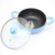 Blue Color Kitchen Cooking Round Non Stick Stock Pot With Glass Lid