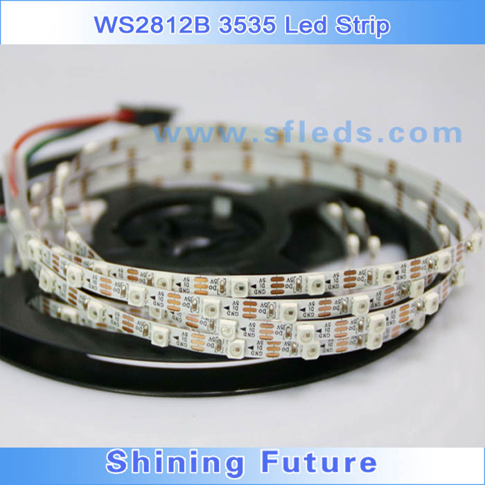 SMD3535 waterproof led strip, 4mm wide led light strip, WS2812B led strip light