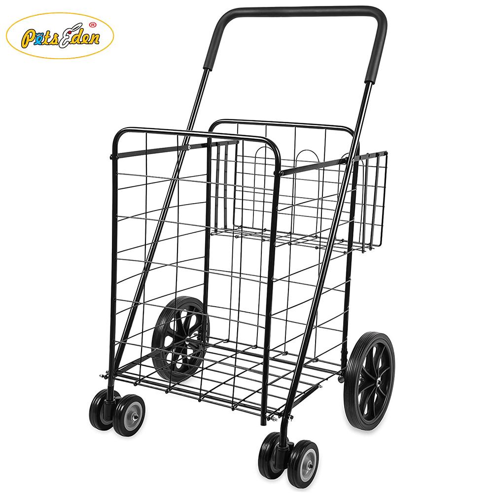 bfcdda6bc458 2018 Good Performance Folding Metal Shopping Trolley Carts 4 Wheels  Shopping Carts - Buy Shopping Trolley Carts,Metal Shopping Carts,Folding  Shopping ...