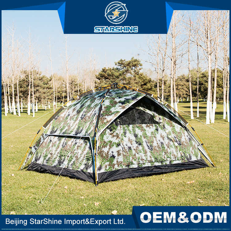 Best Light Weight Customized Printed Family Tents 3-4 Persons Outdoor Kids Camping Sleeping Tent