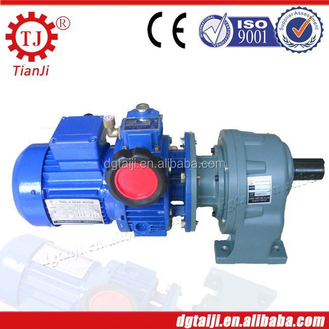 Horizontal three-phase gear reducer with motor