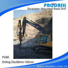 PD90 Dia:89-102mm Excavator Mounted Rock drill/Horizontal drilling