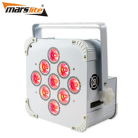 Hight Brightness 9x18w RGBWAUV 6in1 Battery Wireless D IRC Led Uplight